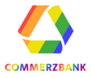 Logo in rainbow colors