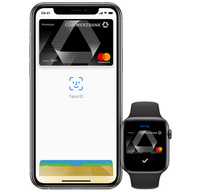 Apple Pay auf dem iPhone oder Apple Watch